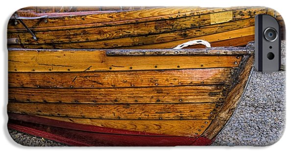 Canoe iPhone Cases - All ashore iPhone Case by Gillian Singleton