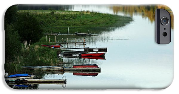 Boat iPhone Cases - All Is Calm iPhone Case by Debbie Oppermann