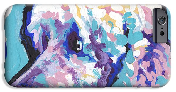 Kids Art Paintings iPhone Cases - All Poodle iPhone Case by Lea