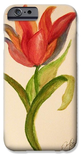 Alice In Wonderland iPhone Cases - All The Flowers Would Have Extra Special Powers iPhone Case by Elizabeth Packer