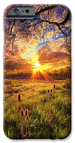 Field. Cloud iPhone Cases - All The World Was Right iPhone Case by Phil Koch