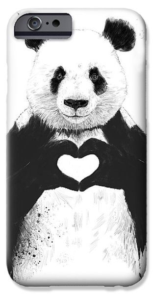 Animals Love iPhone Cases - All you need is love iPhone Case by Balazs Solti