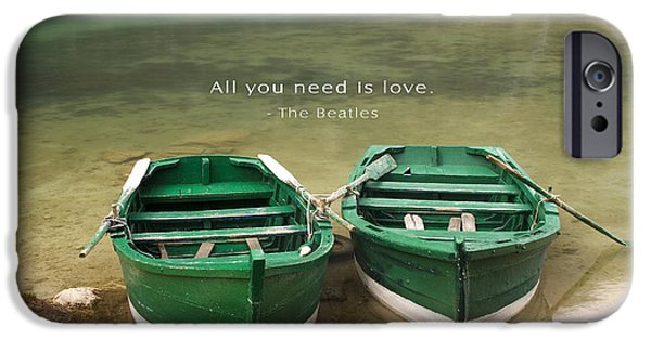 All You Need Is Love Posters iPhone Cases - All You Need Is Love Inspirational Quote iPhone Case by David Simchock