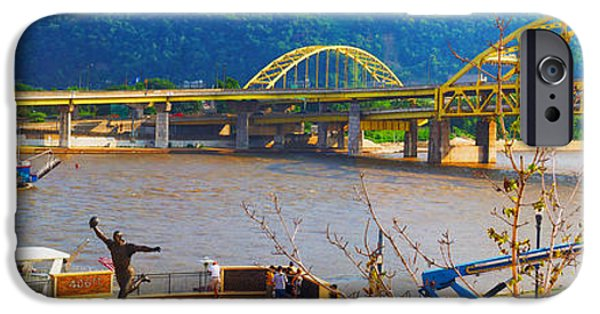 Pirate Ship iPhone Cases - Allegheny River Scene iPhone Case by C H Apperson