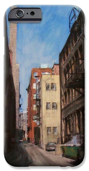 Alley Mixed Media iPhone Cases - Alley 3rd Ward iPhone Case by Anita Burgermeister