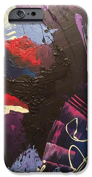 Red Abstract iPhone Cases - Alley iPhone Case by Brittany Houchin