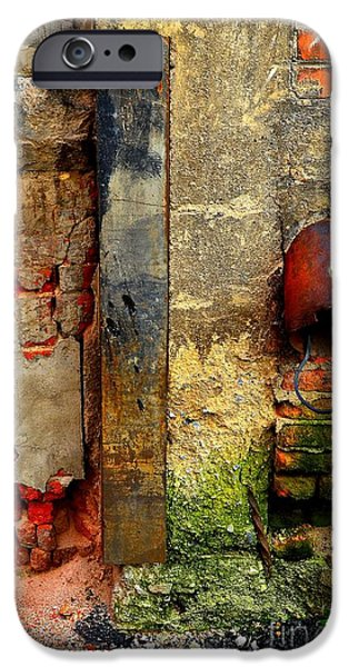 Abstractions iPhone Cases - Alley Compostion iPhone Case by Lauren Hunter