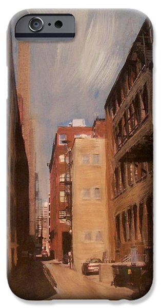 Alley Mixed Media iPhone Cases - Alley Series 1 iPhone Case by Anita Burgermeister