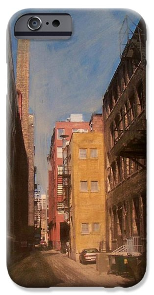 Alley Mixed Media iPhone Cases - Alley Series 2 iPhone Case by Anita Burgermeister