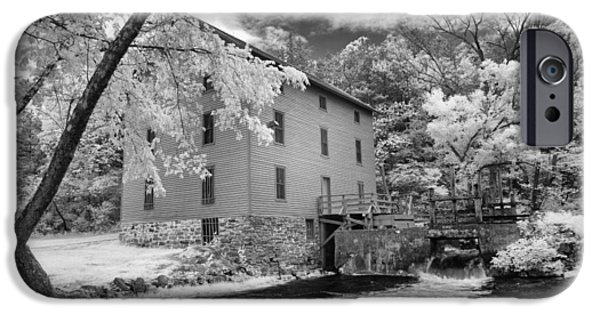 Grist Mill iPhone Cases - Alley Spring Mill iPhone Case by Emil Davidzuk