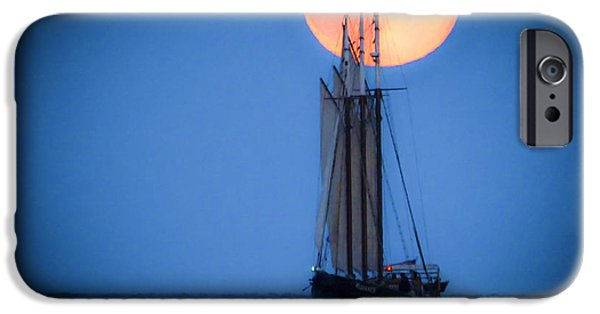 Yorktown Virginia iPhone Cases - Alliance at Moonrise iPhone Case by Linda Eszenyi