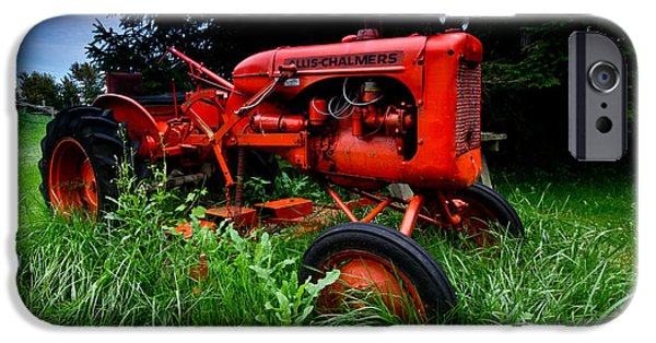 Overgrown iPhone Cases - Allis Chalmers Tractor iPhone Case by Cale Best
