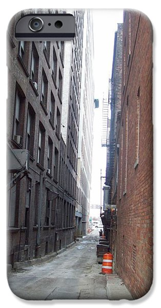 Buildings Mixed Media iPhone Cases - ally way Toledo iPhone Case by Jackie Bodnar