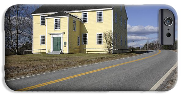 Rural Maine Roads iPhone Cases - Alna Meetinghouse - Alna Maine USA iPhone Case by Erin Paul Donovan