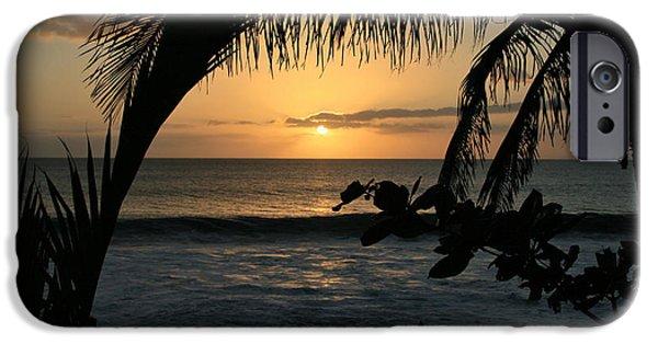 Sharon Mau iPhone Cases - Aloha Aina the Beloved Land - Sunset Kamaole Beach Kihei Maui Hawaii iPhone Case by Sharon Mau