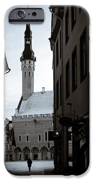 Estonia Photographs iPhone Cases - Alone in Tallinn iPhone Case by Dave Bowman