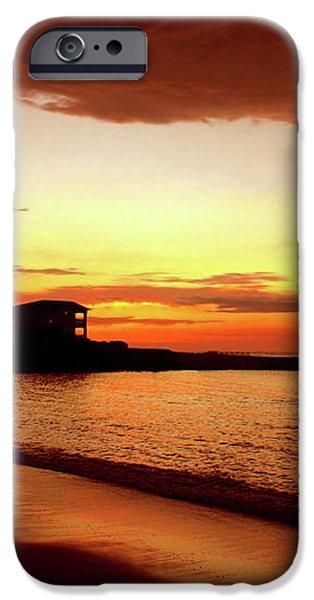 Alone on the Beach iPhone Case by Kamil Swiatek