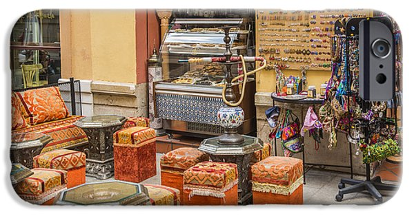 Malaga iPhone Cases - Along The Alley Streets - Malaga Spain iPhone Case by Jon Berghoff