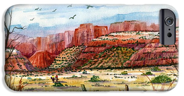 Ledge iPhone Cases - Along The New Mexico Trail iPhone Case by Marilyn Smith