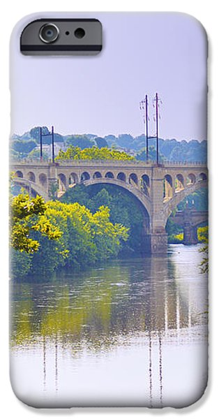 Along the Schuylkill River in Manayunk iPhone Case by Bill Cannon