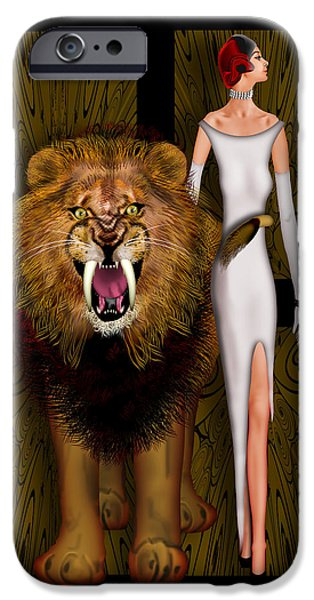 Racing iPhone Cases - Alpha Male and the Pride iPhone Case by Troy Brown