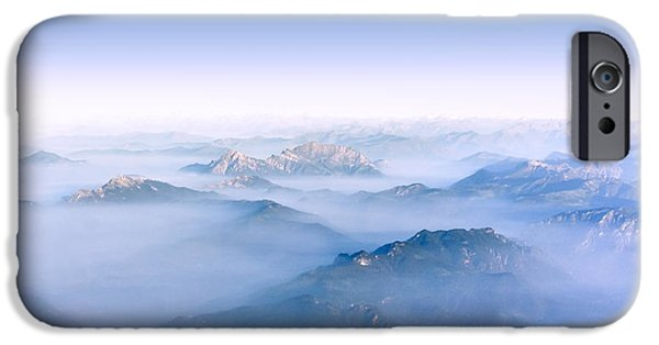 Snow Scene iPhone Cases - Alpine Islands iPhone Case by Dmytro Korol