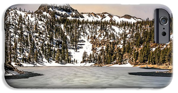 Snow iPhone Cases - Alpine Lake iPhone Case by Maria Coulson
