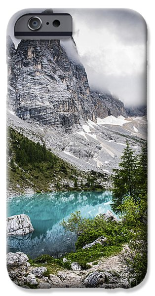 Lake iPhone Cases - Alpine lake iPhone Case by Yuri Santin