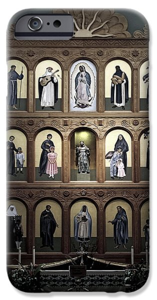 Christine Till iPhone Cases - Altar Screen Cathedral Basilica of St Francis of Assisi Santa Fe NM iPhone Case by Christine Till