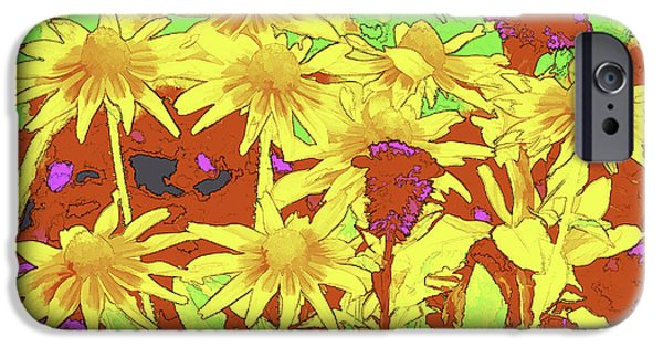 Abstract Digital Photographs iPhone Cases - Altered Growth iPhone Case by Joe Geraci
