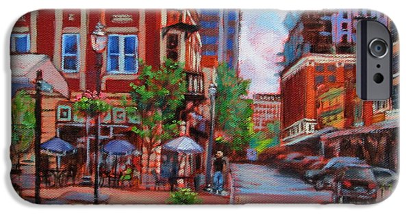 Business Paintings iPhone Cases - Always Changing iPhone Case by Bonnie Mason