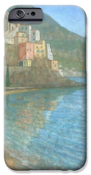 Pastel Paintings iPhone Cases - Amalfi iPhone Case by Steve Mitchell