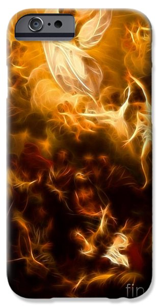 The Church Mixed Media iPhone Cases - Amazing Jesus Resurrection iPhone Case by Pamela Johnson