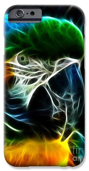 Breeder iPhone Cases - Amazing Parrot Portrait iPhone Case by Pamela Johnson