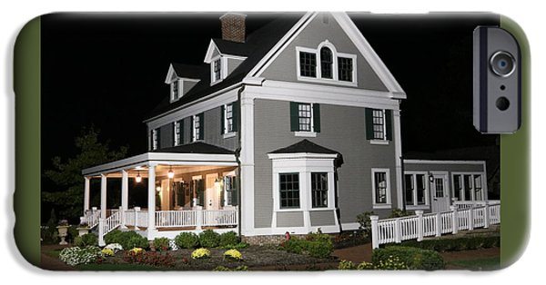 House iPhone Cases - Ambassador House at night iPhone Case by Steve  Gass