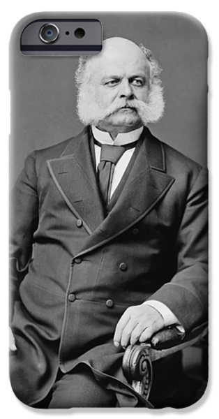 Politician iPhone Cases - Ambrose Burnside and His Sideburns iPhone Case by War Is Hell Store