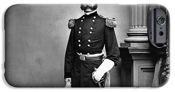 Recently Sold -  - Politician iPhone Cases - Ambrose Burnside, Union General iPhone Case by LOC/Photo Researchers
