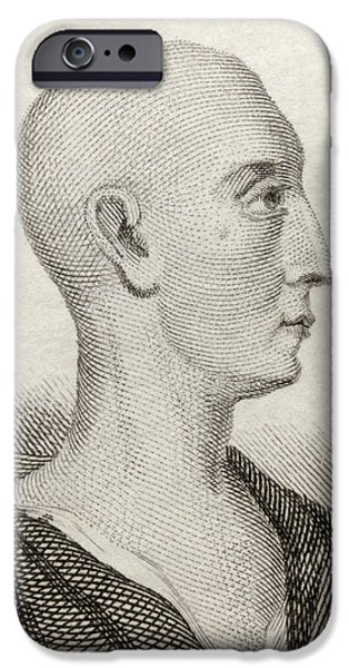 Politician iPhone Cases - Ambrose Philips, 1674 To 1749. English iPhone Case by Ken Welsh