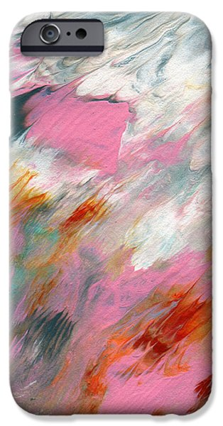 Barns iPhone Cases - Ambrosia 2- Abstract Art By Linda Woods iPhone Case by Linda Woods