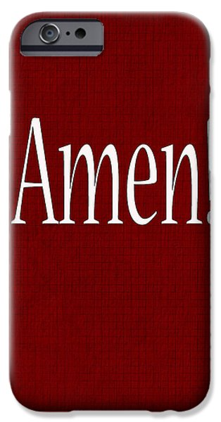 Abstract Forms iPhone Cases - Amen iPhone Case by Tina M Wenger