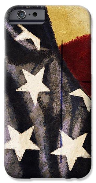 America flag pattern postcard iPhone Case by Setsiri Silapasuwanchai