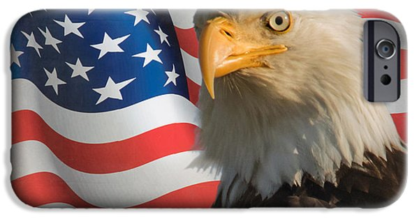 July 4th iPhone Cases - American iPhone Case by Angie Vogel