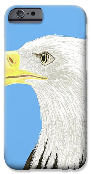 United States iPhone Cases - American Bald Eagle iPhone Case by Stacy C Bottoms