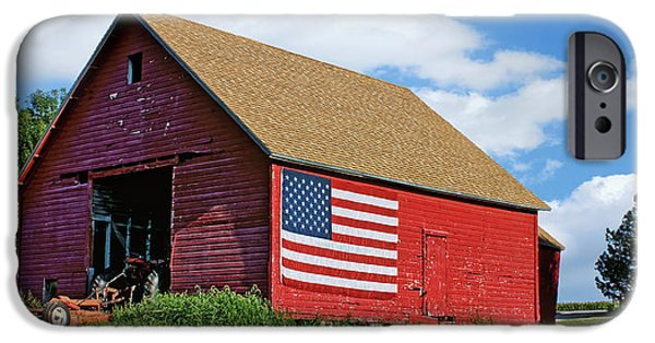 4th July Photographs iPhone Cases - American Barn #2 iPhone Case by Nikolyn McDonald