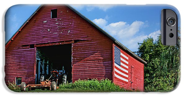 4th July Photographs iPhone Cases - American Barn iPhone Case by Nikolyn McDonald