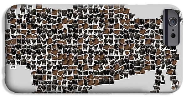 Buffalo Art iPhone Cases - American Buffalo iPhone Case by Toppart Sweden