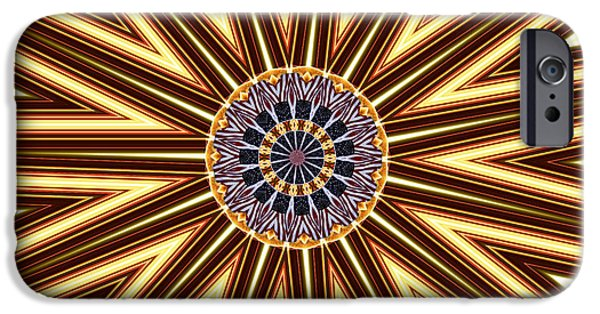4th Of July iPhone Cases - American Flag and Fireworks Kaleidoscope Abstract 1 iPhone Case by Rose Santuci-Sofranko