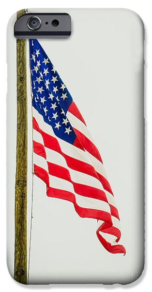 Flag iPhone Cases - American Flag - b iPhone Case by Debra Martz