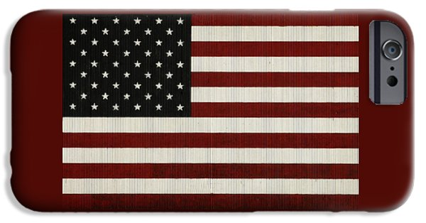 Berry iPhone Cases - American Flag  iPhone Case by Chris Berry