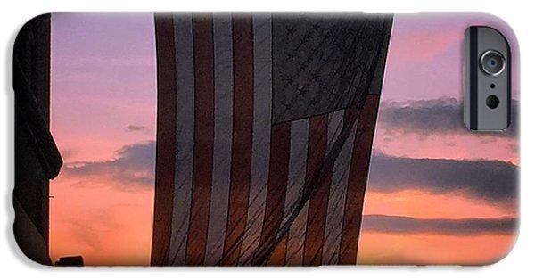 American Flag iPhone Cases - American Flag iPhone Case by Joseph Mari